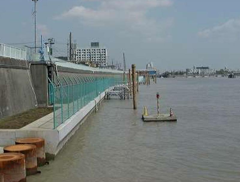 旧江戸川防潮工事