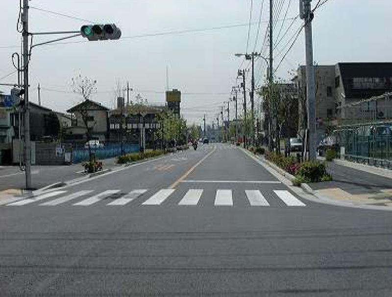歩道の改良工事